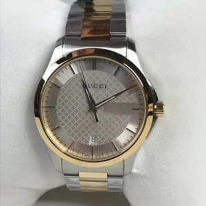 Gucci G-Timeless 38 mm Gold Steel Mens Watch NWT